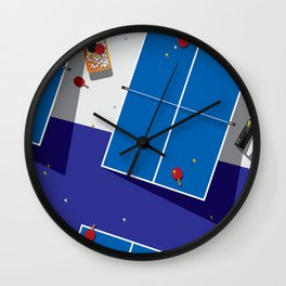 PINGPONG_BL Wall Clock