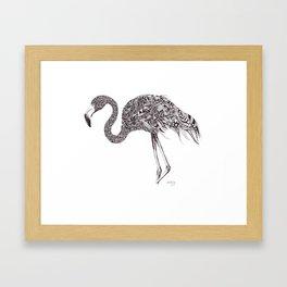 Zentangle Flamingo Framed Art Print