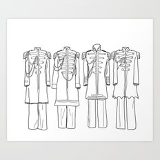 Sgt. Peppers BW Art Print