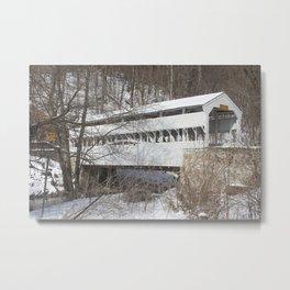 Knox Covered Bridge Metal Print