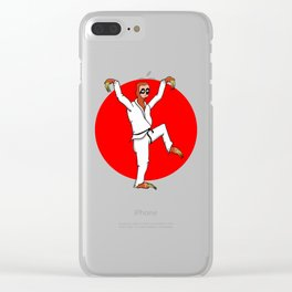 Sloth Karate Clear iPhone Case