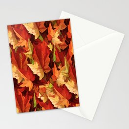 Autumn Leaves Abstract - Painterly Stationery Cards
