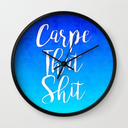 Seize It Wall Clock