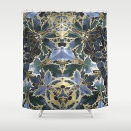 The Holly Robot Shower Curtain