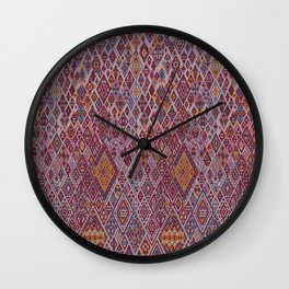abstract pink pattern Wall Clock