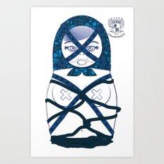 Blueprint Bondage Matryoshka / Nesting Doll  Art Print