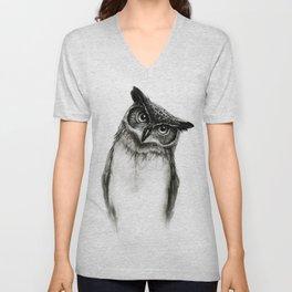 Owl Sketch Unisex V-Neck