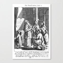 Jesus' Purification Canvas Print