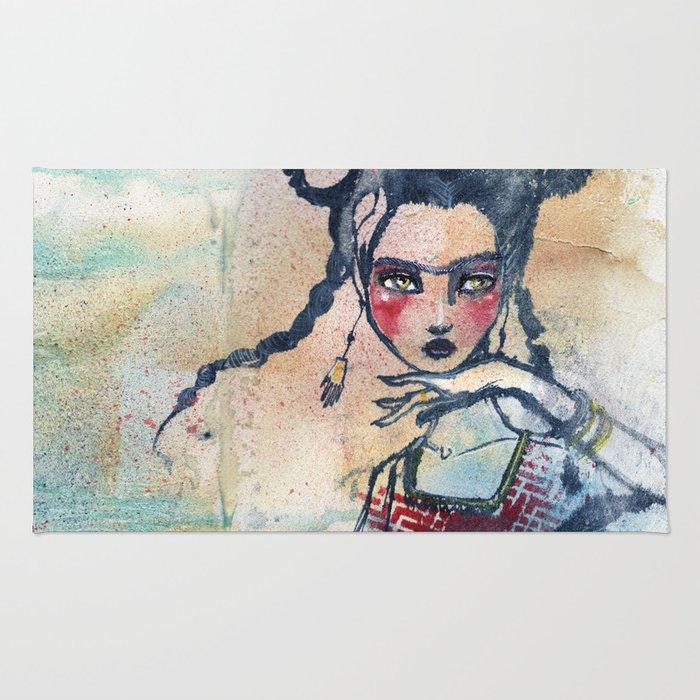 Frida is an Emotion by Jane Davenport Rug