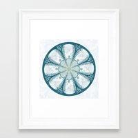 laputa Framed Art Prints featuring Laputa by Jackie Sullivan