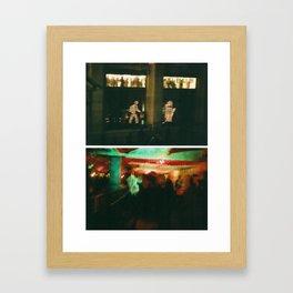 Red Light District Framed Art Print
