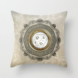 Steampunk D12 Vintage Design Throw Pillow