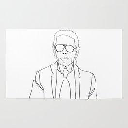 Karl Lagerfeld portrait Rug