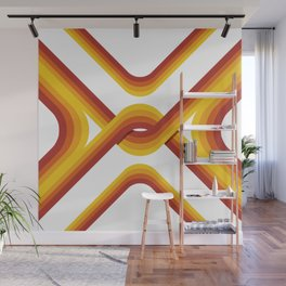 Retro Stripe Light Wall Mural
