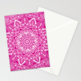 Pink Madala Pattern Stationery Cards