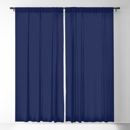 Solid Navy blue Blackout Curtain