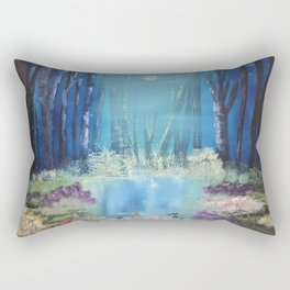 Nightfall at the pond Rectangular Pillow