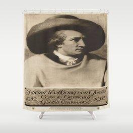 Vintage poster - Johann Wolfgang von Goethe Shower Curtain