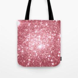 Pink Sparkle Stars Tote Bag