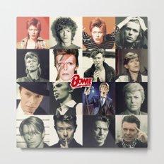 Bowie Faces Metal Print