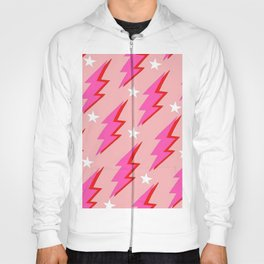 Barbie Pink and White Lightning and Stars Hoody
