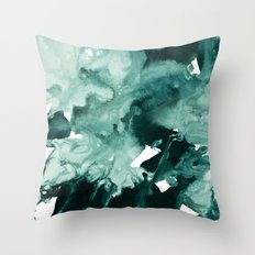 inkblot marble 4 Throw Pillow