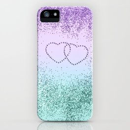 Mermaid Love Sparkling Glitter Hearts #1 #decor #art #society6 iPhone Case