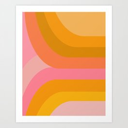 Retro Rainbow 89 Art Print