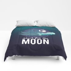 Shoot For the Moon Comforters