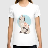 shiba inu T-shirts featuring Shiba Inu Kitsune by AlliePets