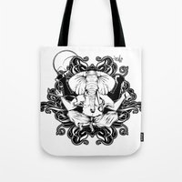 ganesh Tote Bags featuring GANESH by Vee Ladwa