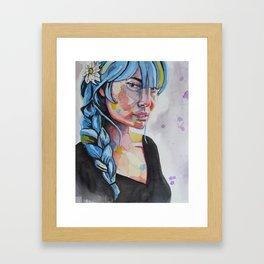 Daisy in Her Hair Framed Art Print