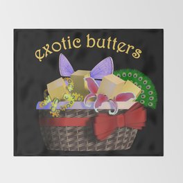 REALLY Exotic Butters Throw Blanket