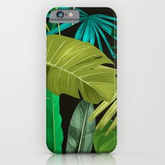 Tropical Leaf Pattern Slim Case iPhone 6s
