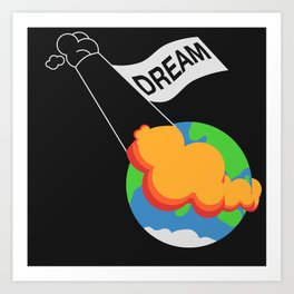 Dream in Space Art Print