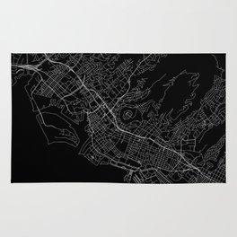 Honolulu Black Map Rug