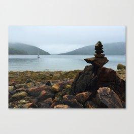 Acadia Cairn Canvas Print