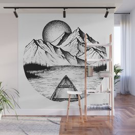 Canoe in the morning Wall Mural