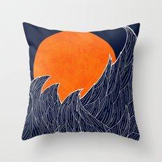 The White Waves Throw Pillow