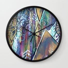 Gold Mountain Rose Wall Clock
