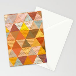 Meditative Lines on Rust #Geometric #Pattern Stationery Cards