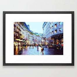 Vienna Rhapsody in Blue Framed Art Print