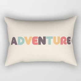 Retro Adventure Typography Rectangular Pillow