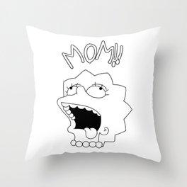 Lil Peep Lisa Drooling Tattoo Throw Pillow