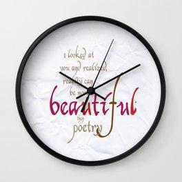 The song of the heart #society6 #love #buyart Wall Clock