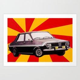 Socialist car Dacia 1300 Art Print
