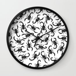 Scorpion Swarm Wall Clock