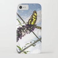 malachite iPhone & iPod Cases featuring Malachite Butterfly by Jacqueline Clark