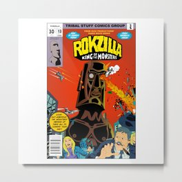Rokzilla-King of Monster Metal Print