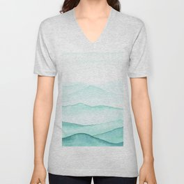 Mint Mountains Unisex V-Neck